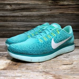 Nike Free RN Distance Blue/Green Running Shoes 9.5